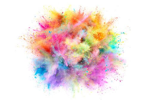 カラフル「Colorful Powder Explosion」:スマホ壁紙(18)