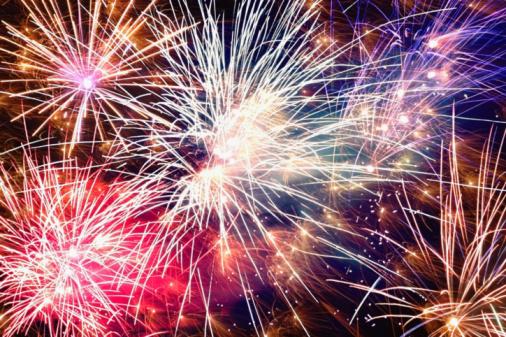 花火「Fireworks display at night, low angle view」:スマホ壁紙(14)