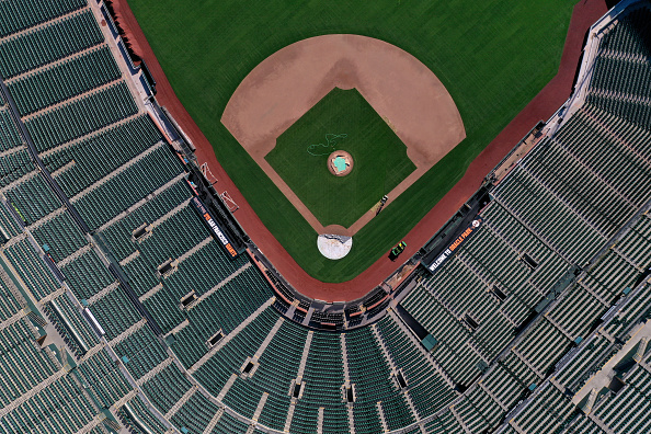 Aerial View「Ballparks Remain Empty On What Would Have Been Baseball's Opening Day」:写真・画像(17)[壁紙.com]