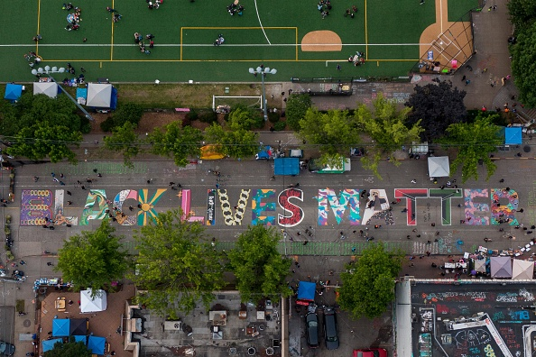 Aerial View「Protests Continue Across The Country In Reaction To Death Of George Floyd」:写真・画像(6)[壁紙.com]