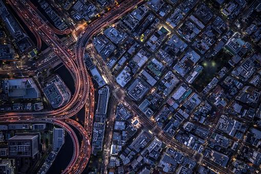 Light Trail「An aerial view of Tokyo」:スマホ壁紙(19)