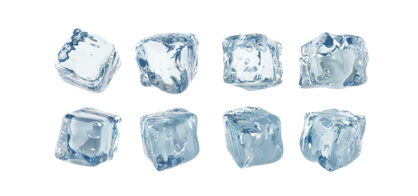 Medium Group Of Objects「Ice cubes isolated on white background」:スマホ壁紙(0)