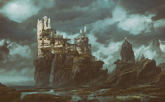 Castle「Abstract futuristic apocalyptic background」:スマホ壁紙(10)