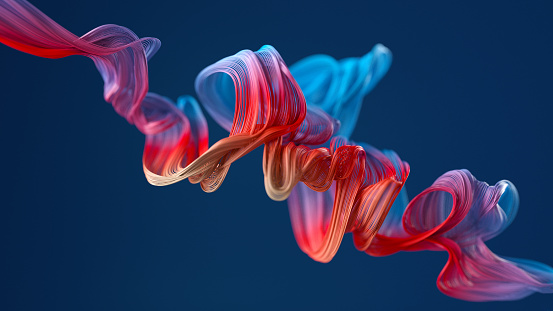 Computer Graphic「colorful wavy object」:スマホ壁紙(3)
