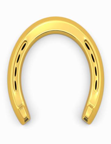 金運「Lucky Gold Horse Shoe」:スマホ壁紙(19)