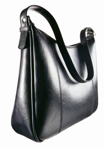 Clutch Bag「A black leather zipper top handbag」:スマホ壁紙(16)