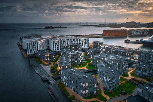 Danish Culture「Copenhagen cityscape: Modern architecture at the sea」:スマホ壁紙(7)