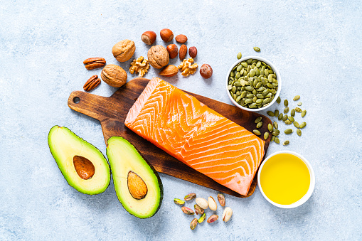 Nut - Food「Food with high content of healthy fats. Overhead view.」:スマホ壁紙(15)