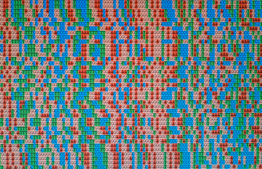 Genetic Research「Unaligned DNA  sequences displayed on an LCD monitor screen」:スマホ壁紙(14)