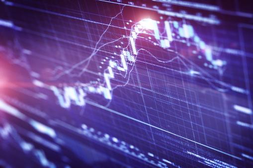 Stock Market Data「Financial chart on LCD display」:スマホ壁紙(4)