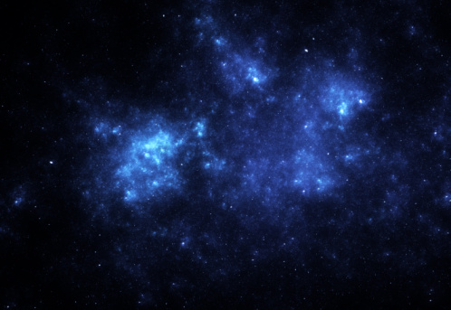 Star - Space「Bright blue space nebula」:スマホ壁紙(10)