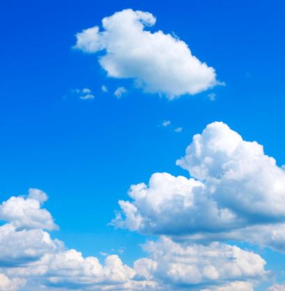 Cumulus Cloud「Bright blue sky with puffy clouds」:スマホ壁紙(1)