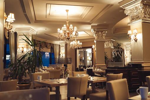 Classical Style「Luxury five stars hotel restaurant」:スマホ壁紙(13)