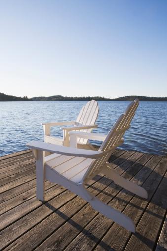 Deck Chair「Adirondack chairs on dock」:スマホ壁紙(11)