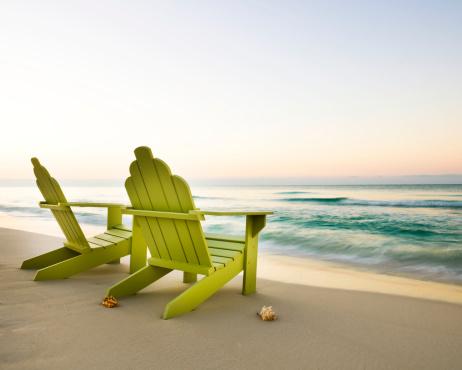 Gulf Coast States「Adirondack Chairs on Beach」:スマホ壁紙(4)