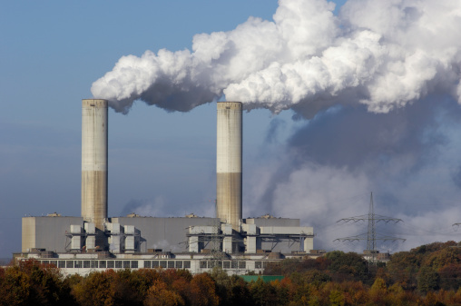 Power Equipment「Two smokestacks of a power plant」:スマホ壁紙(16)