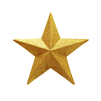 Clipping Path「Golden Star isolated on white background」:スマホ壁紙(13)