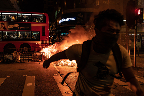 Bus「Anti-Government Protest Movement in Hong Kong」:写真・画像(8)[壁紙.com]