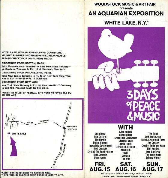 Rock Music「Woodstock Concert Brochure」:写真・画像(1)[壁紙.com]
