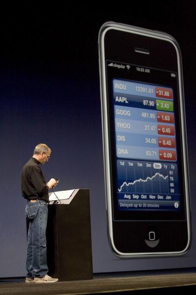 David Paul Morris「Steve Jobs Unveils Apple iPhone At MacWorld Expo」:写真・画像(16)[壁紙.com]