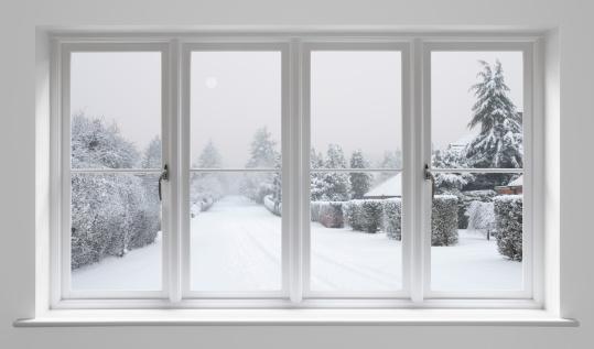 雪「冬の朝~ホワイトの窓」:スマホ壁紙(14)