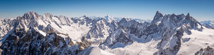 Mountain Peak「Chamonix Mont Blanc panorama」:スマホ壁紙(15)