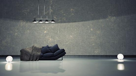 Black Color「Simple interior」:スマホ壁紙(9)