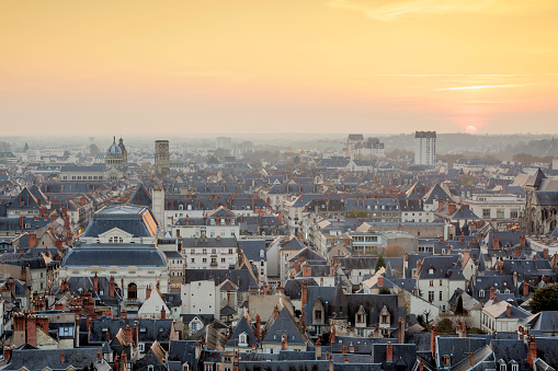 Cathedral「The rooftops of Tours in France from Saint Gatien cathedral, France.」:スマホ壁紙(12)