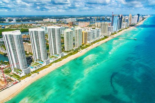 Canal「South Florida Coastline Aerial」:スマホ壁紙(10)