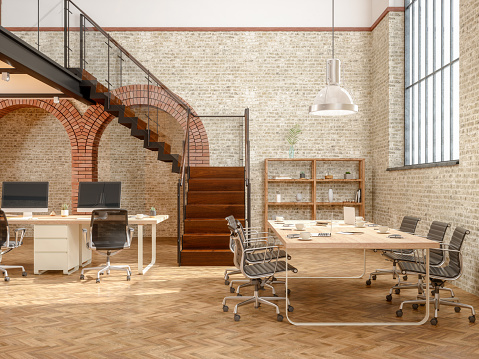 Coworking「Large contemporary open office」:スマホ壁紙(12)