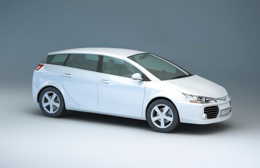Gray Background「Modern compact car in a studio」:スマホ壁紙(17)