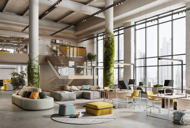 3D image of a environmentally friendly office space:スマホ壁紙(壁紙.com)