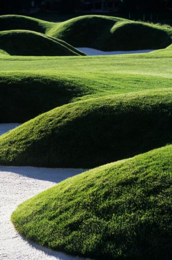 Sand Trap「Sand trap on golf course」:スマホ壁紙(8)