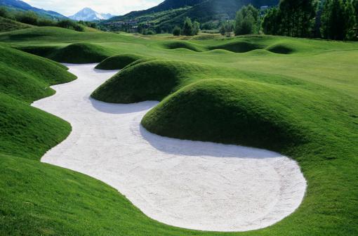 Sand Trap「Sand trap on golf course」:スマホ壁紙(9)