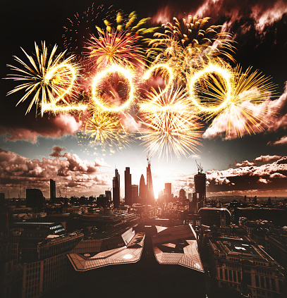 Cathedral「fireworks in london for 2020 new year」:スマホ壁紙(18)