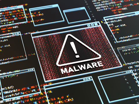 Big Data「Abstract Warning of a detected malware program」:スマホ壁紙(2)