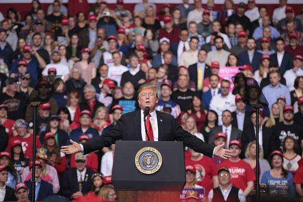 Political Rally「Donald Trump Holds MAGA Rally In Grand Rapids, Michigan」:写真・画像(2)[壁紙.com]
