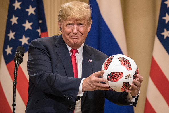 Soccer「President Trump And President Putin Hold A Joint Press Conference After Summit」:写真・画像(19)[壁紙.com]