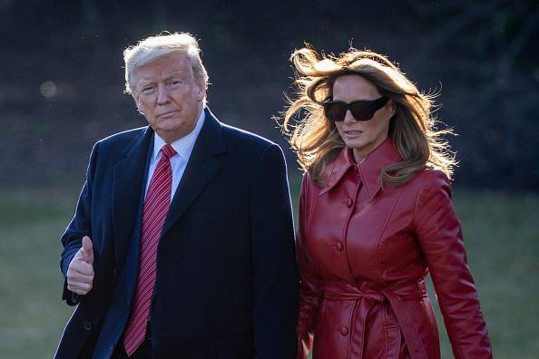 Outdoors「President And Mrs Trump Depart White House For Palm Beach, FL」:写真・画像(19)[壁紙.com]