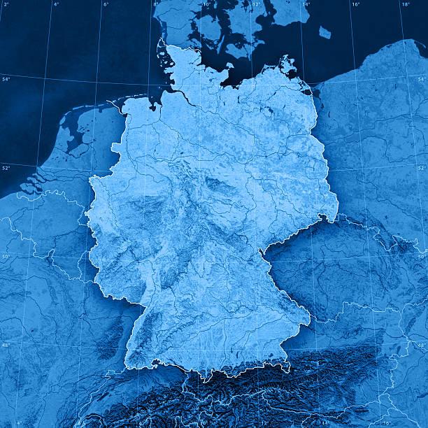 Germany Topographic Map:スマホ壁紙(壁紙.com)