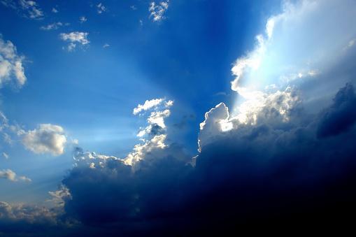 Meteorology「cloud sky sunbeams」:スマホ壁紙(13)