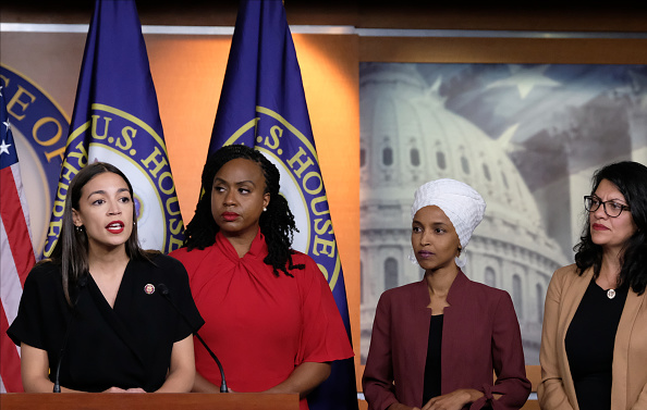 Four People「Congresswomen Ocasio-Cortez, Tlaib, Omar, And Pressley Hold News Conference After President Trump Attacks Them On Twitter」:写真・画像(0)[壁紙.com]