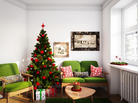 Christmas Decoration「Christmas Living Room」:スマホ壁紙(14)