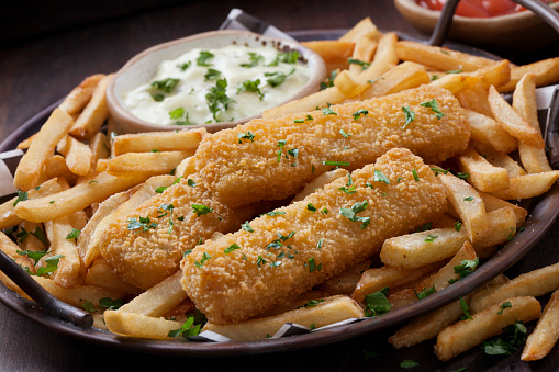 Pollock - Fish「Crispy Fish Stick Tacos with Creamy Coleslaw, Fries and Tarter Sauce」:スマホ壁紙(8)