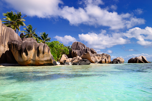 Shallow「Famous tropical beach of Anse Source d'Argent」:スマホ壁紙(15)