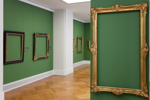 Dirty「golden vintage baroque frame 18th century - place your picture」:スマホ壁紙(4)