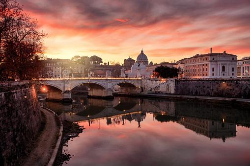 Rome - Italy「Vatican City at sunset」:スマホ壁紙(16)