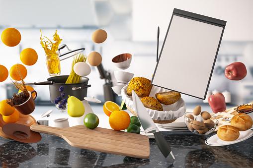 Recipe「Zero Gravity Levitation in Kitchen with Empty Menu」:スマホ壁紙(16)