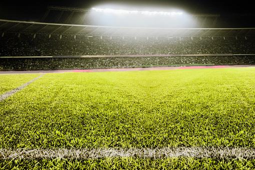 Stadium「View of athletic soccer football field」:スマホ壁紙(11)