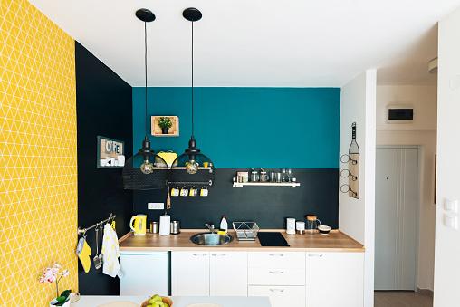 Studio Apartment「Modern and cozy studio apartment and small kitchen」:スマホ壁紙(16)